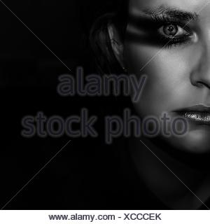 Cropped Portrait Of Young Woman - Stock Photo