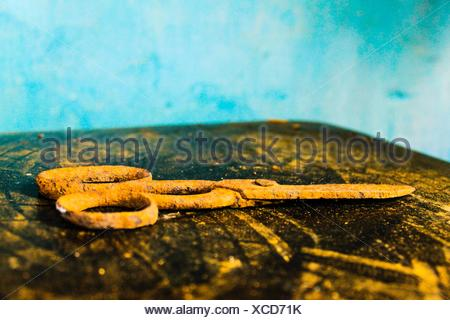 Close-Up Of Rusty Scissors - Stock Photo