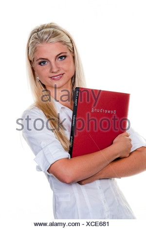 Woman seeking work with Application Solution - Stock Photo