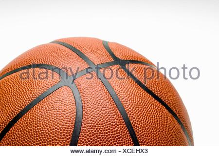 Studio shot, close up of basketball