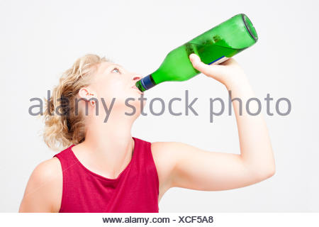 woman drink drinking - Stock Photo