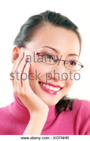 Young woman contemplating - Stock Photo