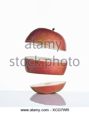 Close up of slices of apple - Stock Photo