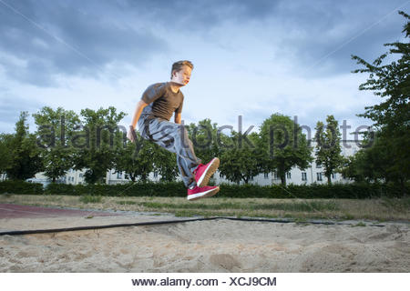 long jumpin in the sand - Stock Photo