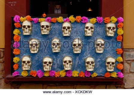 Decoration for the Day of the Dead, Oaxaca de Juárez, Oaxaca, Mexico, Central America - Stock Photo