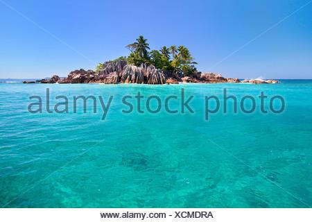 beautiful island of St Pierre, Seychelles - Stock Photo