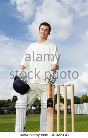Portrait of a batter - Stock Photo