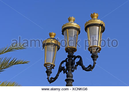 Middle East, Near East, United Arab Emirates, UAE, Sharjah, Kalba, Kalba Corniche, lantern, detail - Stock Photo