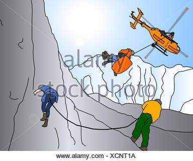 mountain rescue - Stock Photo