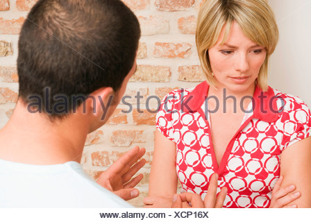 Young couple Arguing, close-up - Stock Photo