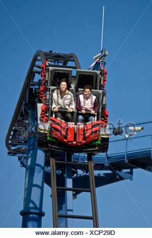 Rollercoaster, Legoland, Guenzburg, Bavaria, Germany - Stock Photo