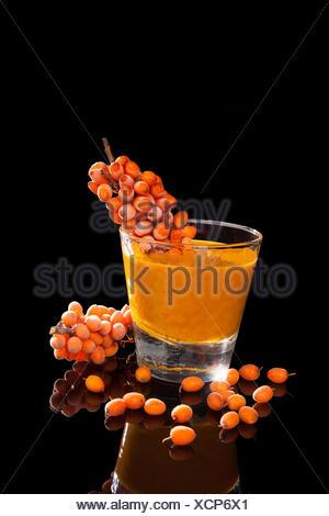 glass chalice tumbler cup orange food aliment detail drink drinking bibs liquid isolated black swarthy jetblack deep black ripe - Stock Photo