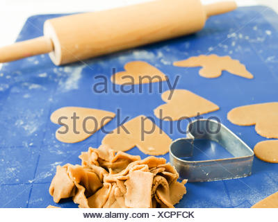 Gingerbread cookie baking - Stock Photo