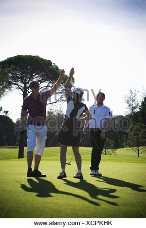 Scandinavians playing golf, Turkey. - Stock Photo