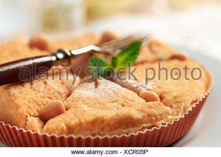 Fresh baked Dessert pie - detail - Stock Photo
