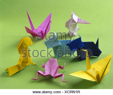 Origami Japanese Paper Folding Art Animals Differently Brightly Japan