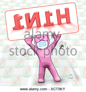Protection from Swine flu, Concept - Stock Photo