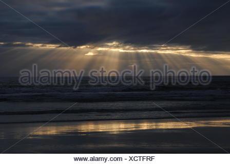 Vakker solnedgang i ytre Lofoten - Stock Photo