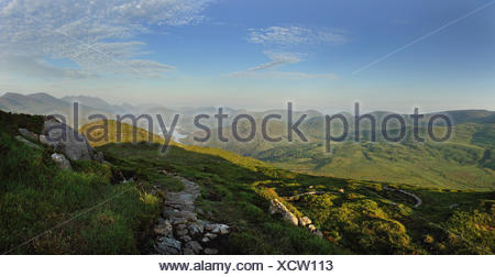 Ireland, Kerry County, View to Torc Mountain - Stock Photo