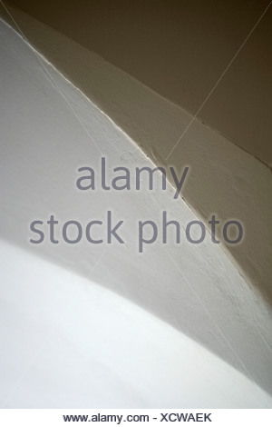 Abstract view of ceiling, wall and arch of doorway - Stock Photo