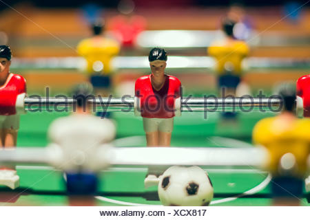 foosball in close up - Stock Photo