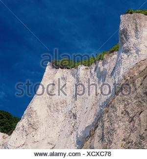 scenery rock cliff chalk rock cliffs Denmark Europe island isle Mon coast Mons Klint sea