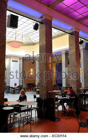 Switzerland, Basel, Gerbergasse 30, Unternehmen Mitte, the cafe - Stock Photo