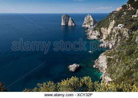 Campania, Capri, Fels, Golf von Neapel, Il Capo, Insel, Inselgruppe, Italien, Kampanien, Meer, Mittelmeer - Stock Photo