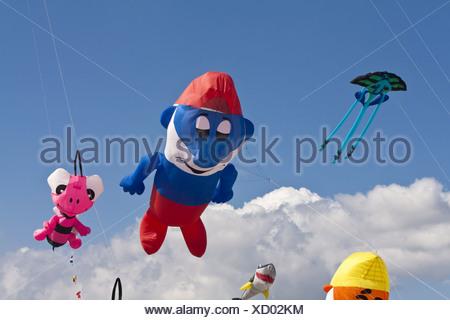 Kite Festival on the Beach of St. Peter-Ording - Stock Photo