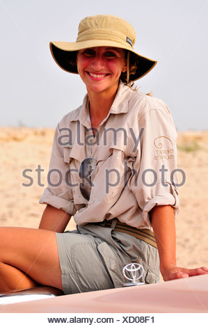 Ranger on Sir Bani Yas Island, Abu Dhabi, United Arab Emirates, Arabia, Near East, Orient - Stock Photo