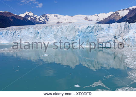Calm Waters Below a Glacial Face - Stock Photo