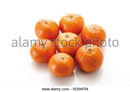 Fresh tangerines (Citrus reticulata) - Stock Photo