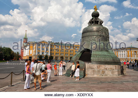 Tsar's Bell, Kremlin, Moscow, Russia - Stock Photo