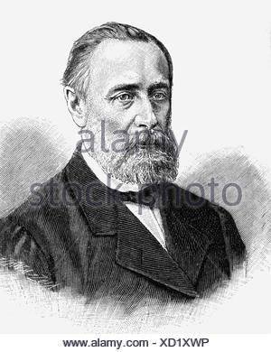 Katkov, Mikhail Nikiforovich, 13.2.1818 - 1.8.1887, Russian journalist, portrait, wood engraving, 19th century, , Additional-Rights-Clearances-NA - Stock Photo