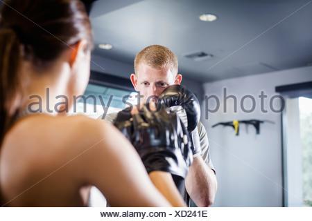 Kickboxers in training - Stock Photo