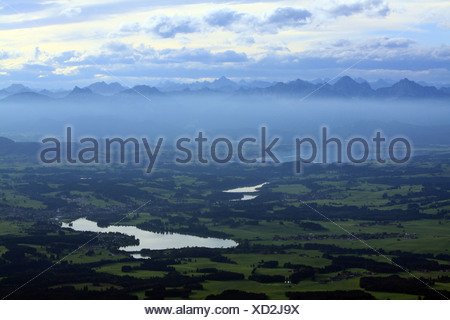 Lech reservoir near Lechbruck - Stock Photo