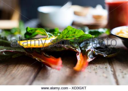 Chard vegetable stems - Stock Photo