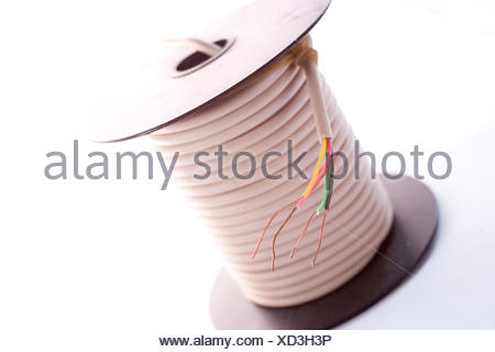cable on the reel - Stock Photo