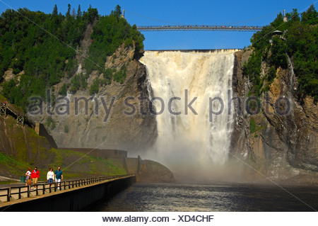 Natural spectacle Montmorency Falls, Beauport, Quebec, Canada - Stock Photo