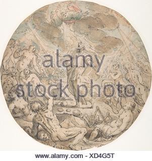 Ezekiel in the Valley of the Dry Bones. Artist: Georg Pecham (German, Munich ca. 1568-1604 Munich); Former Attribution: Gotthard Ringgli (Swiss, - Stock Photo