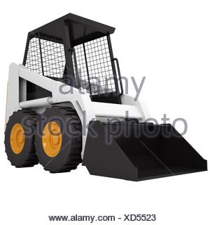 Small tractor - Stock Photo