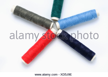 Sewing thread reels - Stock Photo