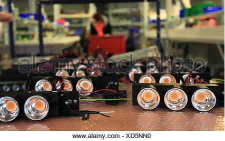 LED lights in manufacturing - Stock Photo