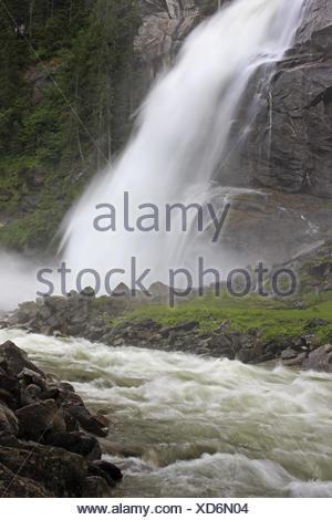 Austria, Tyrol, High Tauern (Hohe Tauern), High Tauern National Park, Krimmler waterfalls,