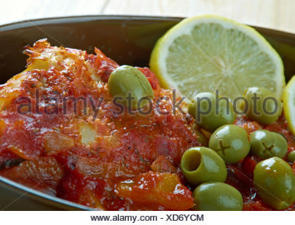 Veracruz-Style Red Snapper - Stock Photo
