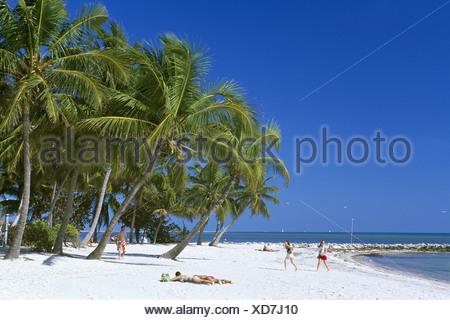 Smathers Beach, Key West, Florida Keys, Florida, USA - Stock Photo