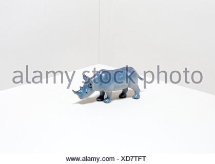 Toy rhinoceros - Stock Photo