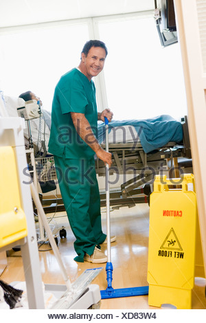 Orderly Cleaning Hospital Stock Photo 37314997 Alamy