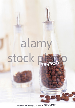 beans,coffee beans,beans,glass bottle,still life,b - Stock Photo