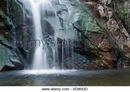 Sturtevant Falls,  San Gabriel Mountains, California, USA - Stock Photo